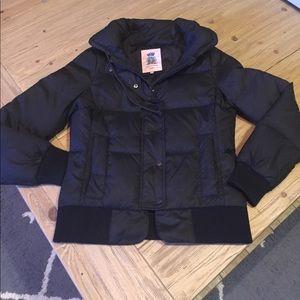 Juicy Couture black down waist length jacket M