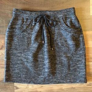 Loft Charcoal Skirt - EUC