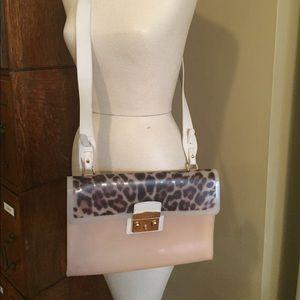 Furla rubber blush handbag
