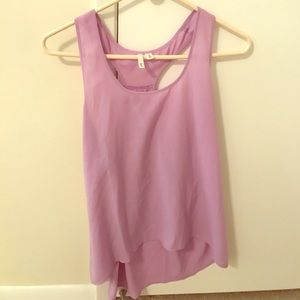 Frenchic Lilac Tank Top in Size Medium.