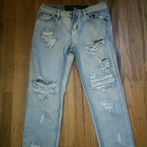 One teaspoon boyfriend jeans sz 25 light blue
