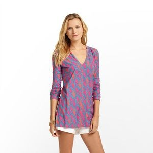 Lilly Pulitzer Noelle Hooded Tunic - Size S