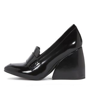 JEFFREY CAMPBELL Truman Patent Wedge Loafer 6