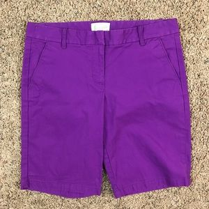 NWT! J. Crew Purple Bermuda Shorts