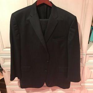 Men's BURBERRY London Pin Stripe Suit 48L 48 Long