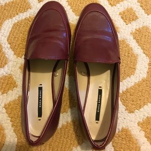 Wine color Zara flats