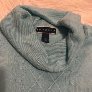Karen Scott Sweaters - Aqua Karen Scott acrylic sweater