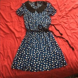 NWOT Peter Pan Collar Fish Print Dress