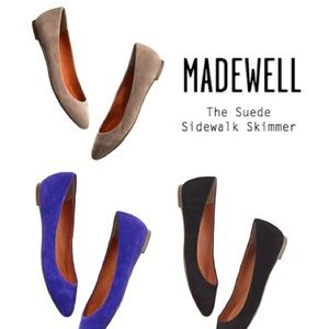Madewell suede sidewalk skimmer black