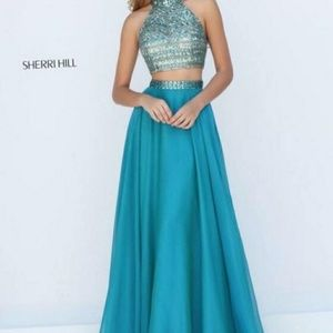 Sherri Hill 50096 Beaded Illusion 2pc Prom Gown