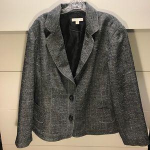 Gray Textured Blazer