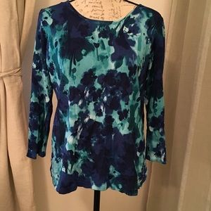 Blue Floral Sweater