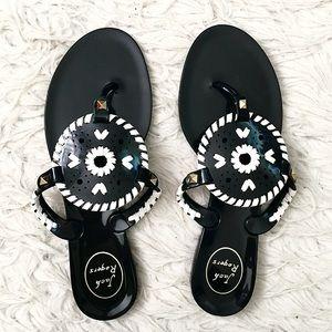 Black Georgica Jelly Sandals