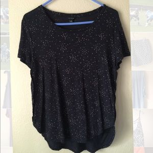 Ann Taylor midnight star shirt M