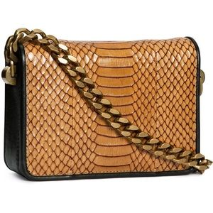 H&M premium leather bag with chain strap