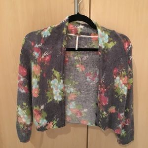 Free People sweater, short cardigan, size L