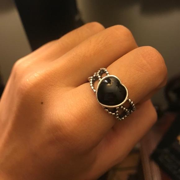 a628187c1a40a Pandora Mi Amor Black onyx ring