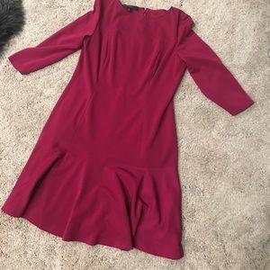 Red violet Nine West dress 14 fit flare