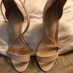 Kelly & Katie buff pink sandal stiletto heels Sz 9