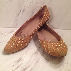 Vince Camuto Gold Studded Slip On Flats