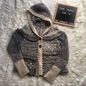 | Free People | Hooded Fair Isle Sweater