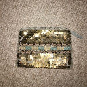 Zara tribal beaded clutch purse