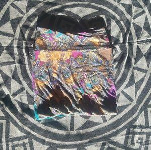 Multi colored mini skirt