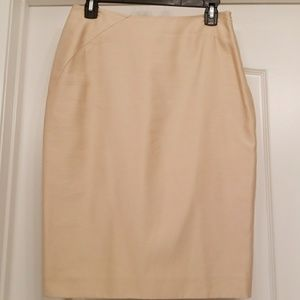 BCBG Beautiful Pencil Silk Skirt