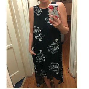 New with tags! Black maxi dress with white flowers