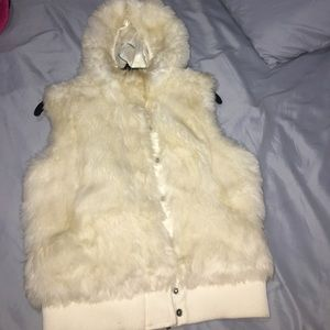 Beautiful snow white H&M fur coat
