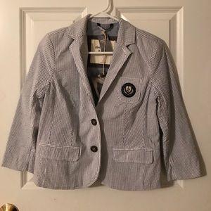 Abercrombie & Fitch striped schoolboy blazer
