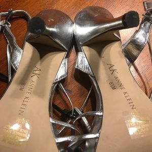AK Anne Klein silver shoes size 8.5M