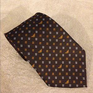 Giorgio Armani Brown W/ Gold Check Tie