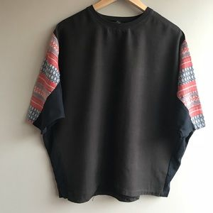 Zara t-shirt with boho style sleeves