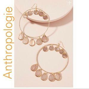 Anthropologie Seashell Mother of Pearl Earrings
