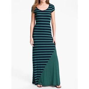 Anthropologie Everleigh Mixed Stripe Maxi Dress