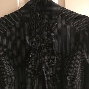 NWT Bebe ruffle shirt. Size xs.