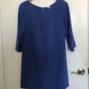 Nordstrom Leith Brand Blue Dress with Back Slit