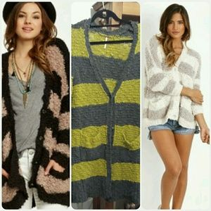 Free People marshmallow stripe cardigan