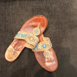 Jack Rogers Summer Sandals with Turquoise Stones