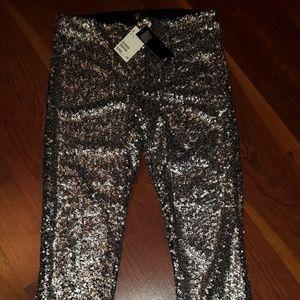 H&M Sequin Leggings  sz 12 NWT