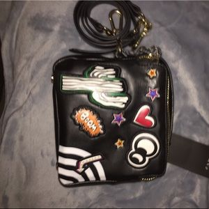 Zara black patch crossbody
