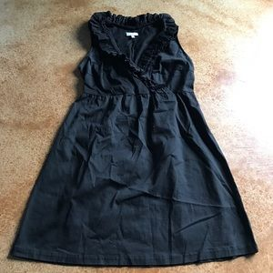 Fashion Bug 18 black dress with ruffle neckline
