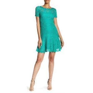 DVF Fifi A-line Emerald Lace Dress NWT