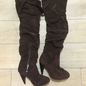 Shoes - 3 for 15! Over-the-knee Brown slouchy boots