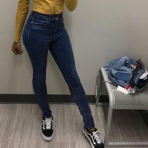 Skinny High Waisted Blue Jeans