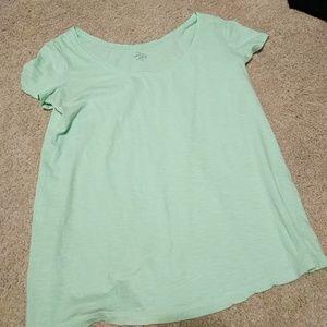 LOFT sunwashed mint green t-shirt