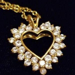 Jewelry - Swarvoski crystals, gold plated, shining heart