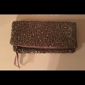 Banana Republic Crystal Studded/Satin Clutch