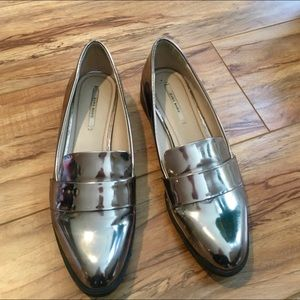 Zara Metallic Loafers